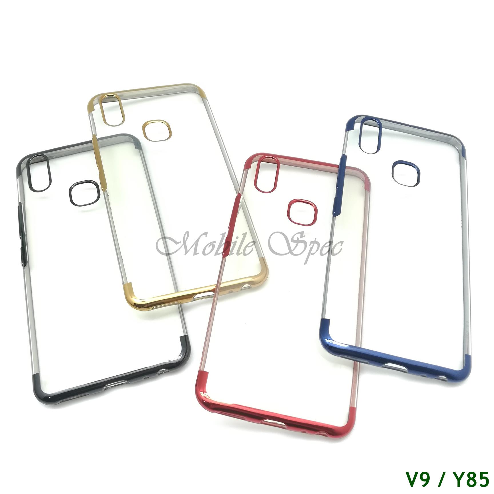 VIVO V9 Y85 Y71 ELECTROPLATING TRANSPARENT CASE