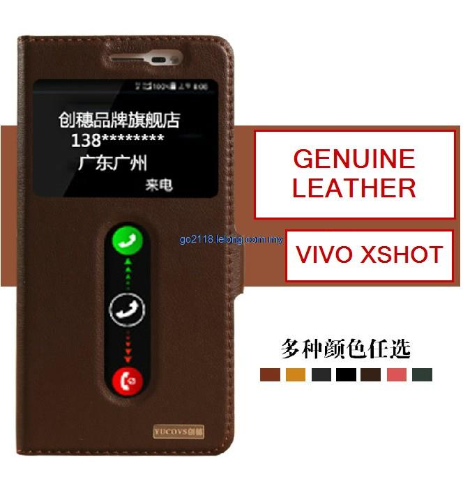 vivo xshot Genuine Cowhide Leather case casing cover