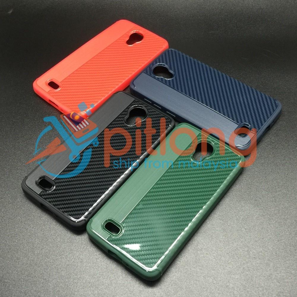 Vivo Y21 Y22 Y25 New Carbon Soft Tpu Ultra Slim Case ( Black )