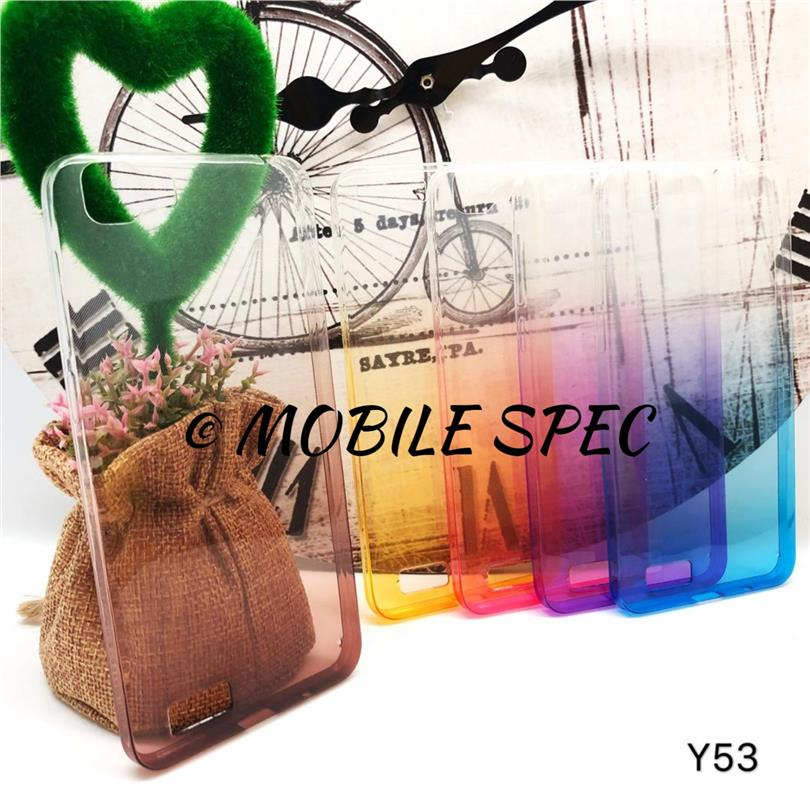VIVO Y35 Y37 Y51 Y53 SOFT TPU 2 TONE RAINBOW TRANSPARENT CASE