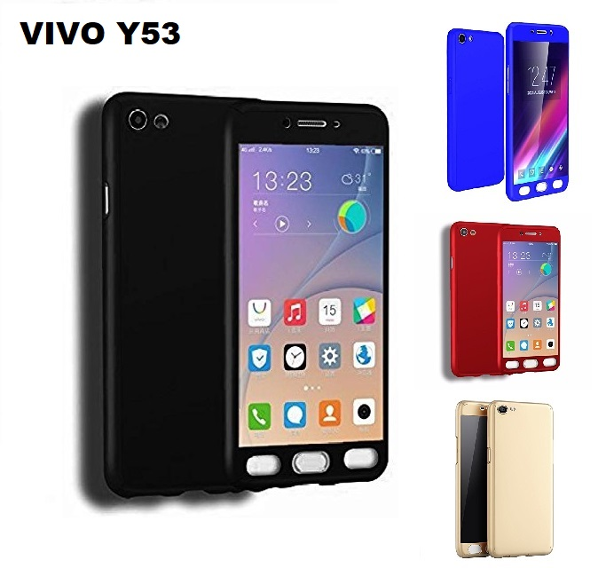 pretty nice aa6c9 ad08d VIVO Y53 360 Full Body Protection Case + Tempered Glass