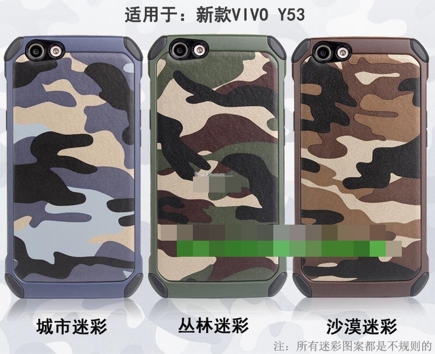 ViVO Y53 Camouflage ShakeProof 360 Protection Back Case Cover Casing
