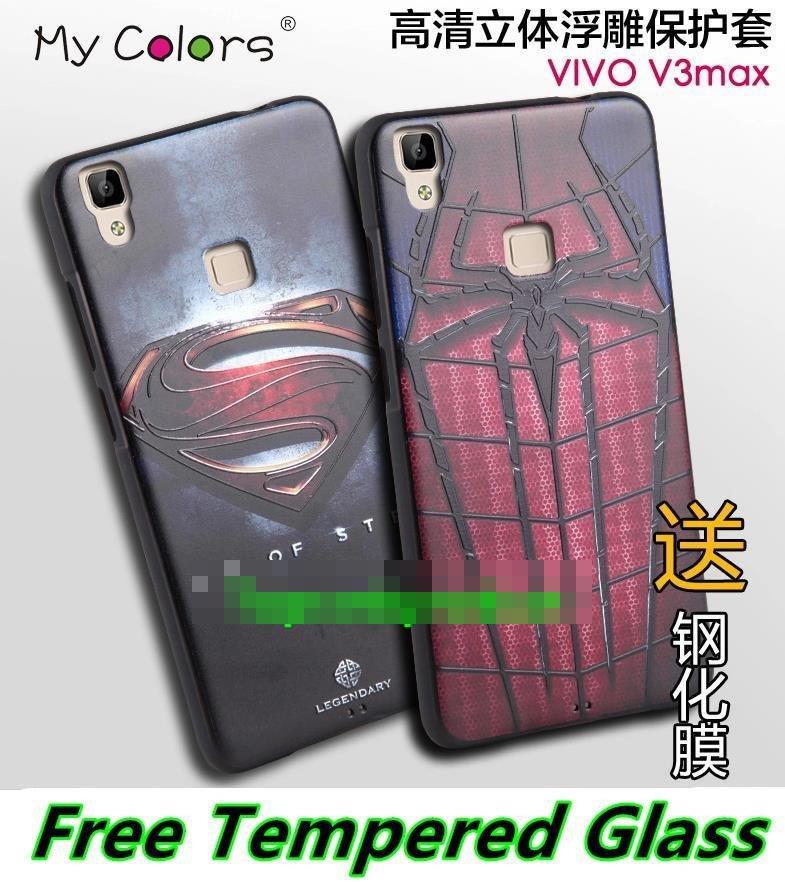 the latest 20e5d 19675 ViVO Y53 V3 / Max V3Max 3D Silicone Case Cover Casing + Tempered Glass
