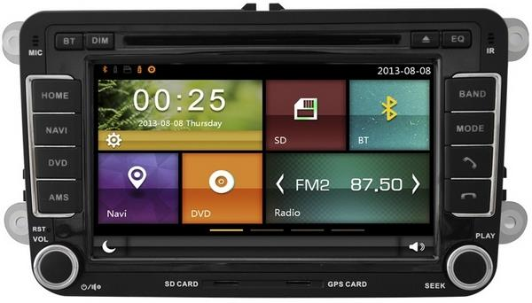 MOST VOLKSWAGEN DYNAVIN 7' Double Din Mirror Link GPS DVD SD TV Player