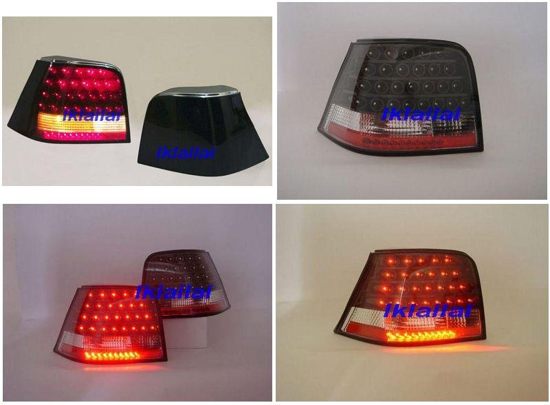 VOLKSWAGEN GOLF 4 '99-'04  LED Tail Lamp [Crystal LED with Black Housi
