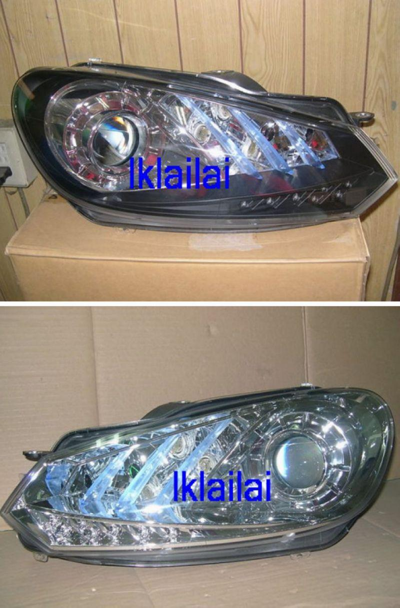 Volkswagen Golf 6 `08 Head Lamp Crystal Projector W/DRL+Motor
