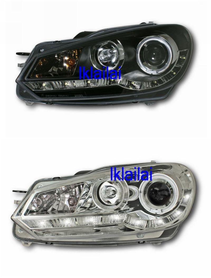 Volkswagen Golf 6 '08 Projector Head Lamp DRL With LED Ring