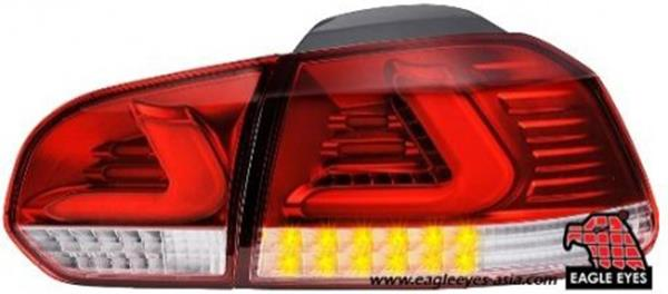 VOLKSWAGEN GOLF TSI/GTI MK6 2010-12 EAGLE EYES Red Clear LED Tail Lamp
