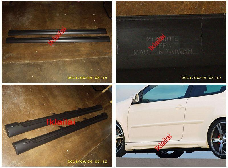 Volkswagen Golf V '03-07 Side Skirt ABT Style PP Taiwan