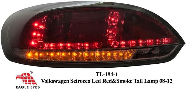 VOLKSWAGEN SCIROCCO 2008 - 2016 EAGLE EYES Smoke Red LED Tail Lamp