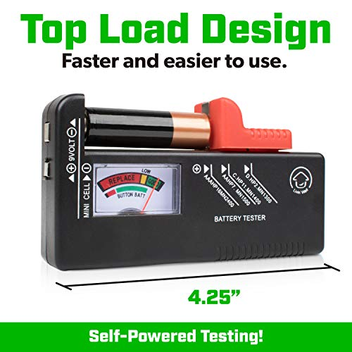 Volt Vault Battery Tester Checker – Universal Battery Tester for AAA, AA, C,
