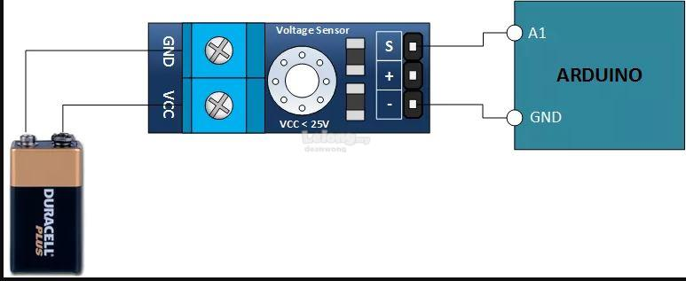 Voltage Sensor module for Arduino and others