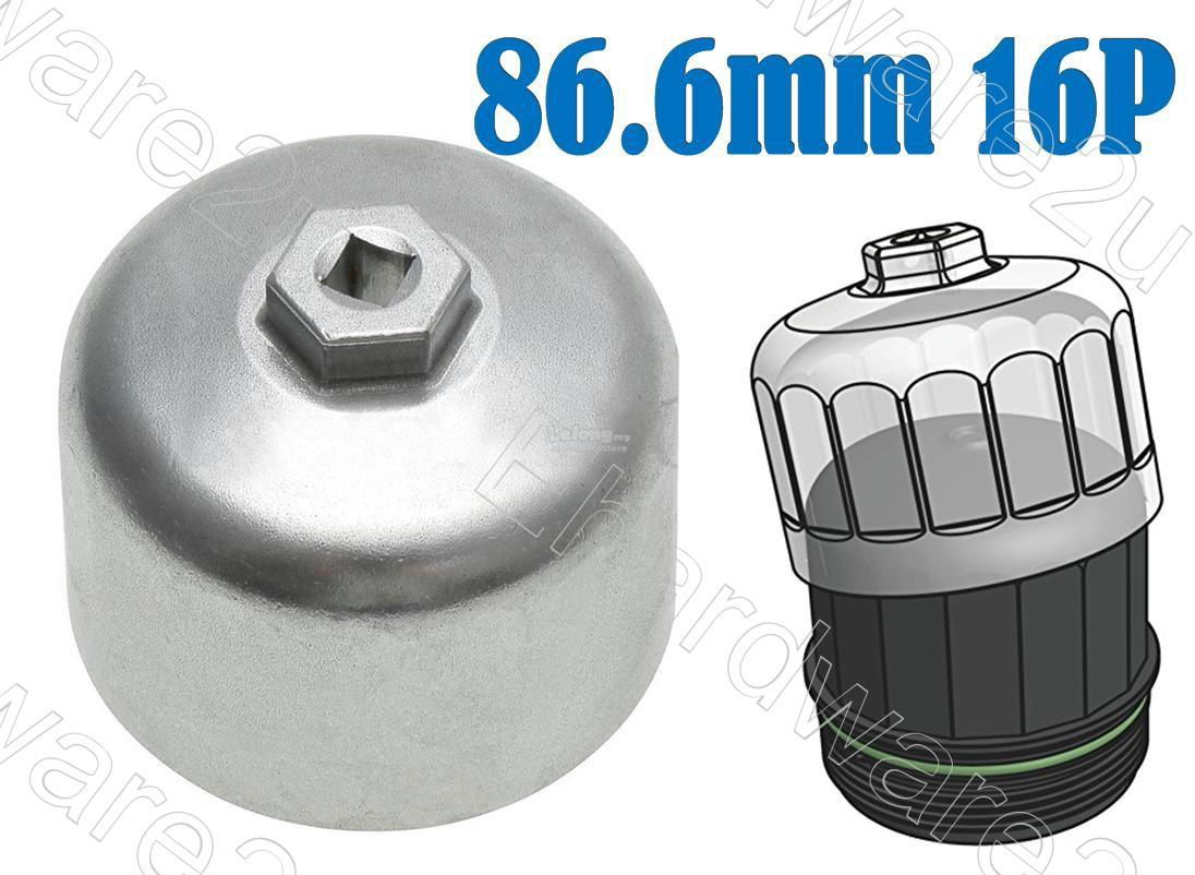 Volvo BMW Oil Filter Cap Wrench 86.6mm P16 (OFCW8716)