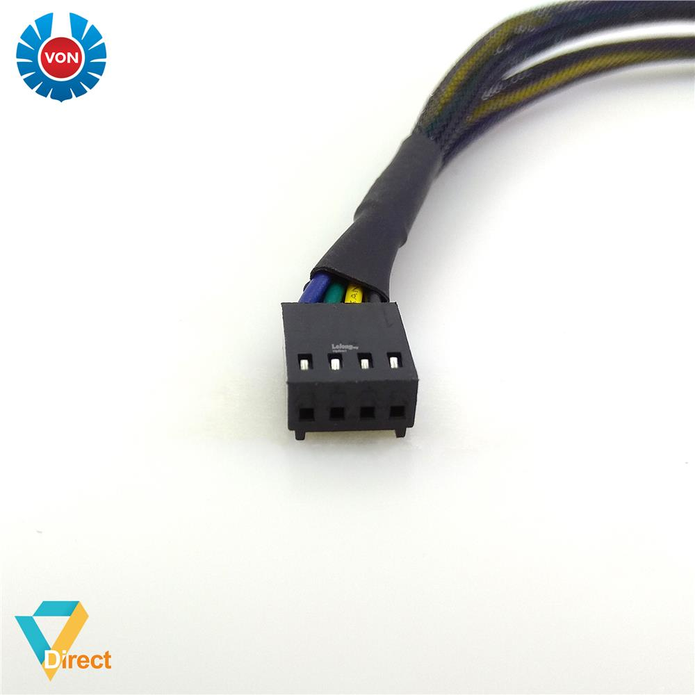 Von Ventus sleeved 1 to 2 PWM 4-pin fan hub splitter adapter cable