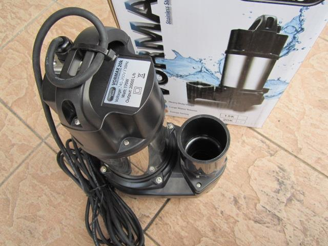 Vormax 170W 20K Stainless Steel AquaZonic Submersible Pump