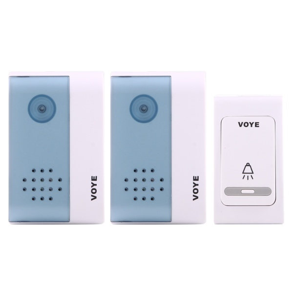VOYE V004B2 Wireless Smart Music Home Doorbell with Dual Receiver, Rem..