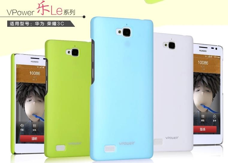 Vpower Huawei Honor 3C Hard Back Case Cover + Free Screen Protector