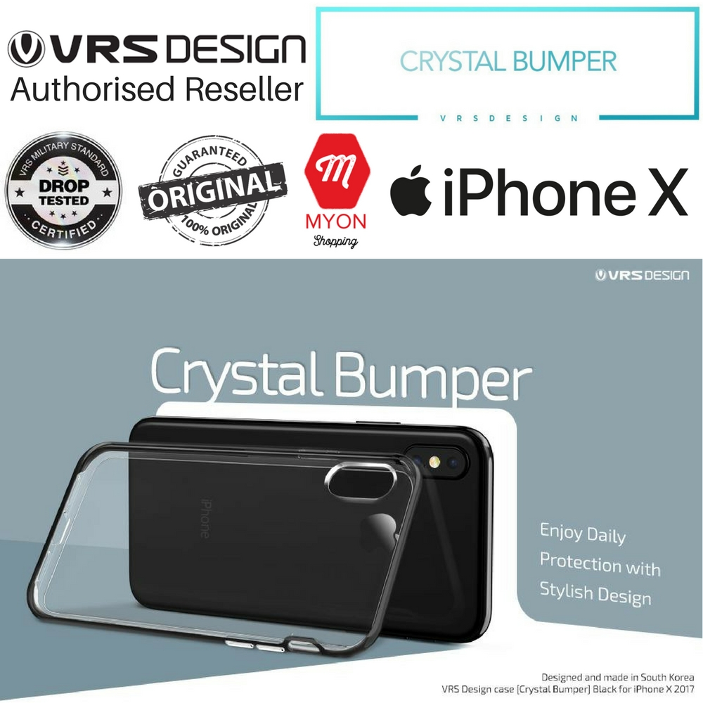 best loved 77d30 c4eb6 VRS Design Crystal Bumper Case for iPhone X / iPhone 10