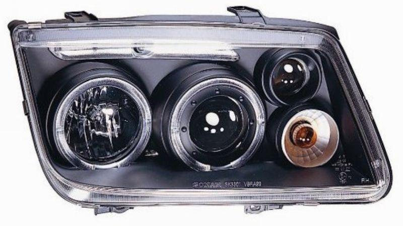 VW BORA JETTA 99-04 LED Ring Projector Head Lamp Black