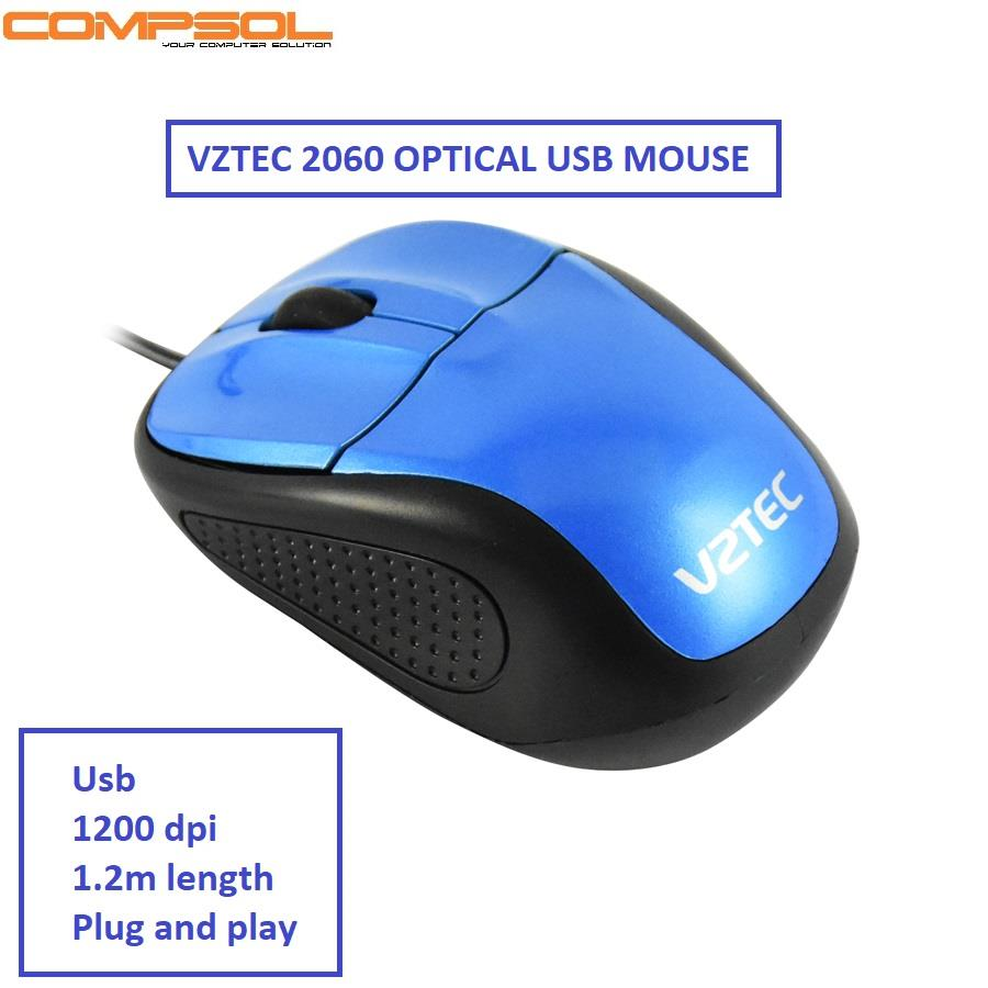 Vztec 2060 Usb Optical Mouse- Blue