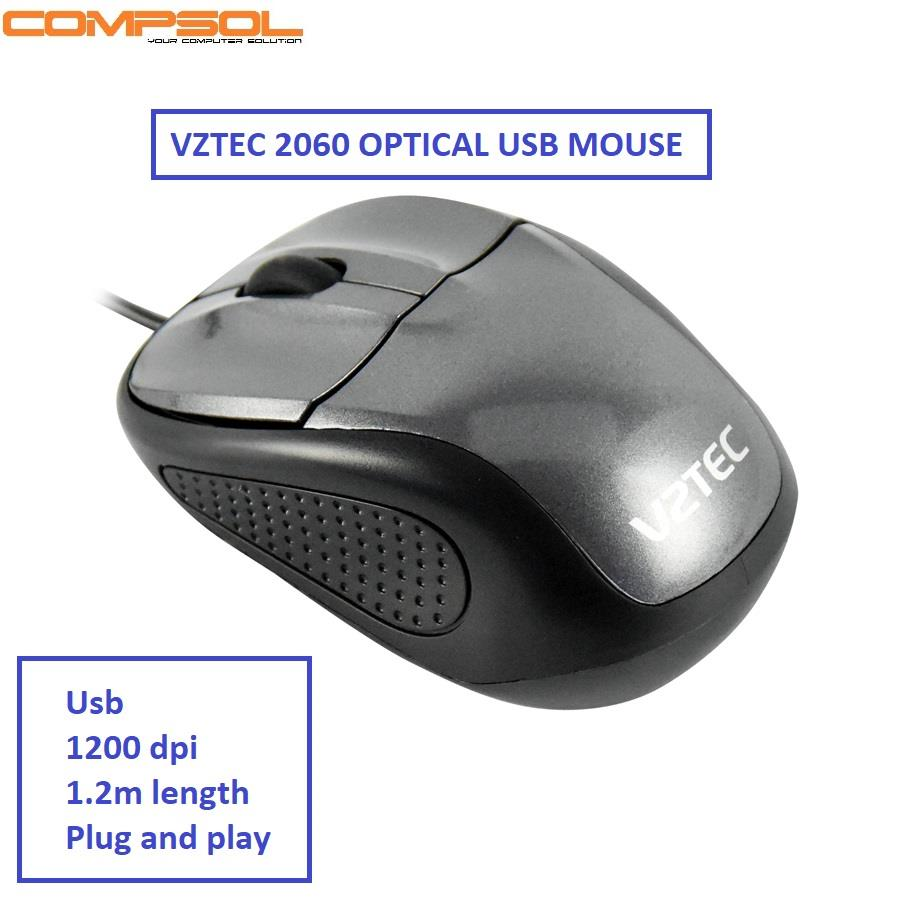 Vztec 2060 Usb Optical Mouse- Grey