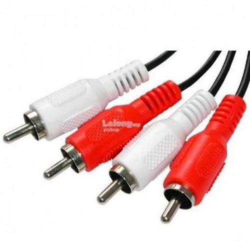 VZTEC AUDIO 2 RCA (M) TO 2 RCA (M) CABLE 5M (CB5110)