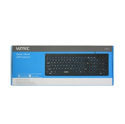 VZTEC WIRED USB KEYBOARD (VZ2143) BLK