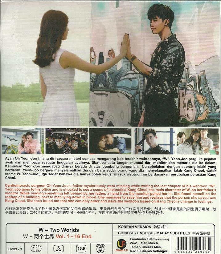 W TWO WORLDS - KOREAN TV SERIES DVD BOX SET (1-16 EPIS)