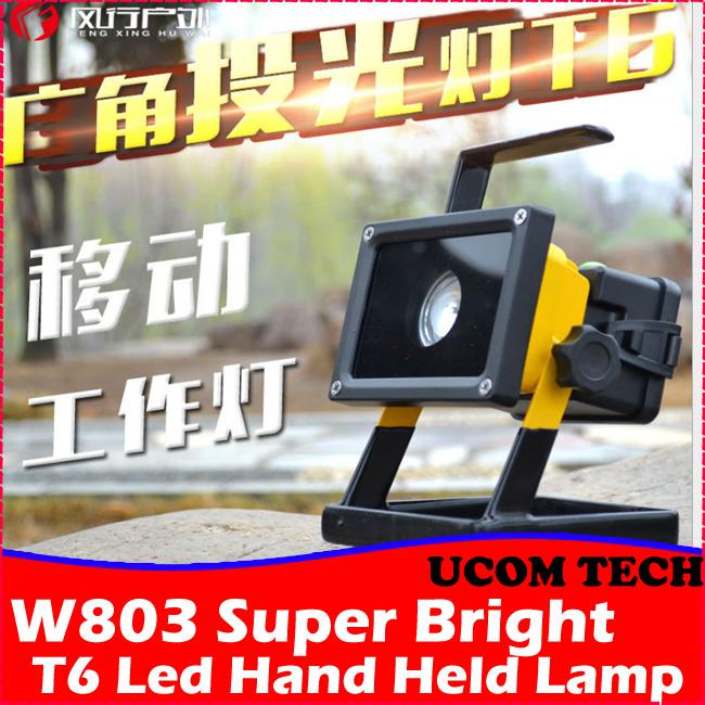 W803 Super Bright T6 Led Hand Held Led Lamp, Rechargeable Torchlight
