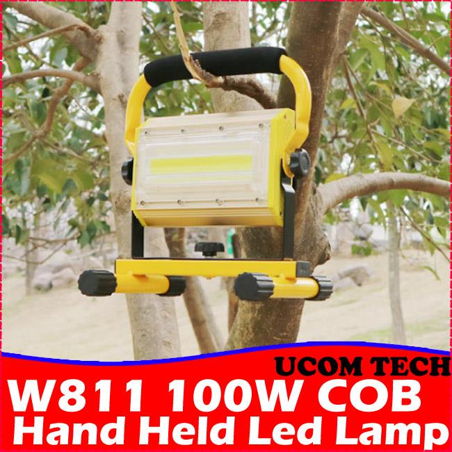 W811 100W COB Hand Held Led Lamp Rechargeable Flood Torchlight