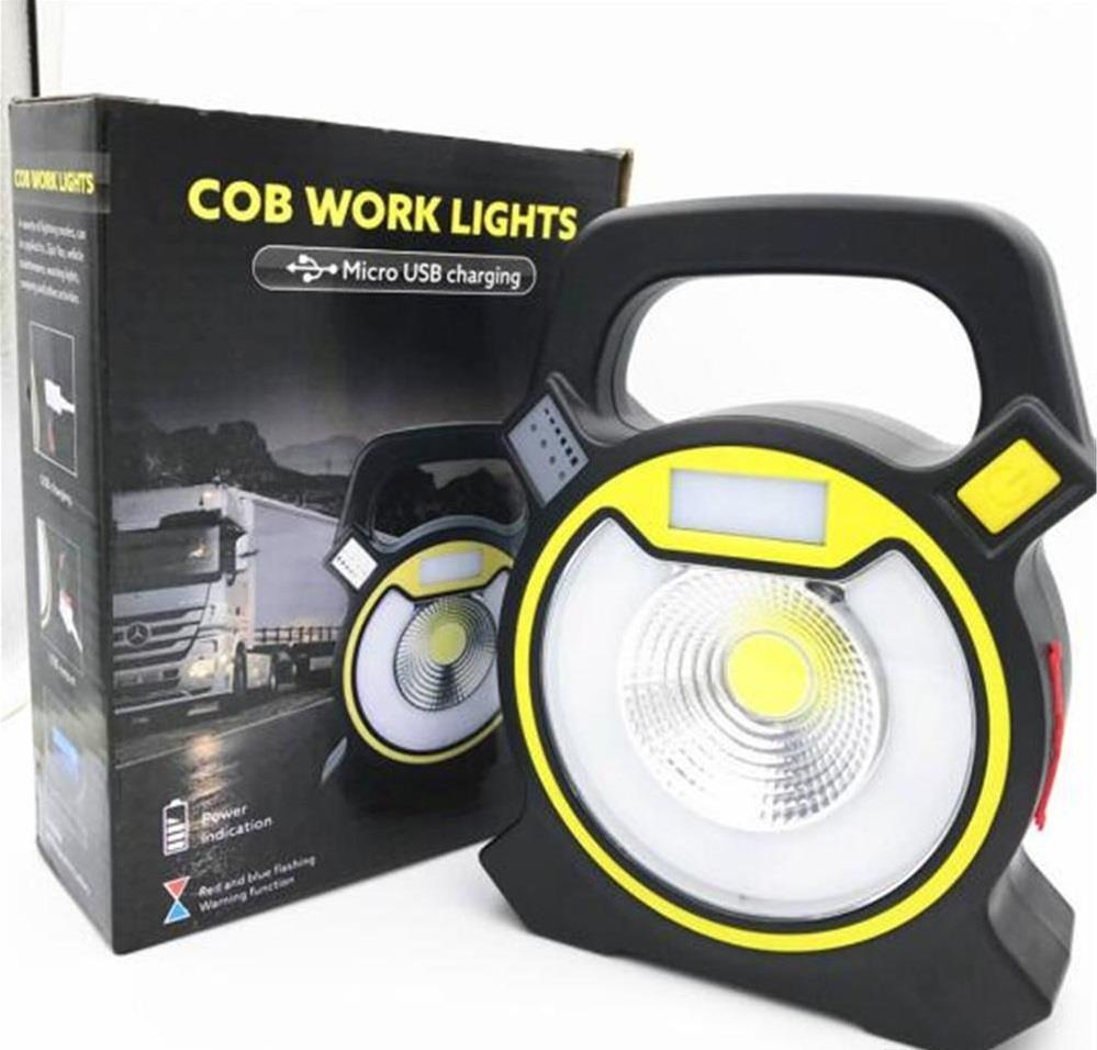 Portable 60 Leds 350lm Rechargeable Cordless Work Light: W815 RECHARGEABLE COB WORK LIGHT (RA (end 8/11/2018 3:15 PM
