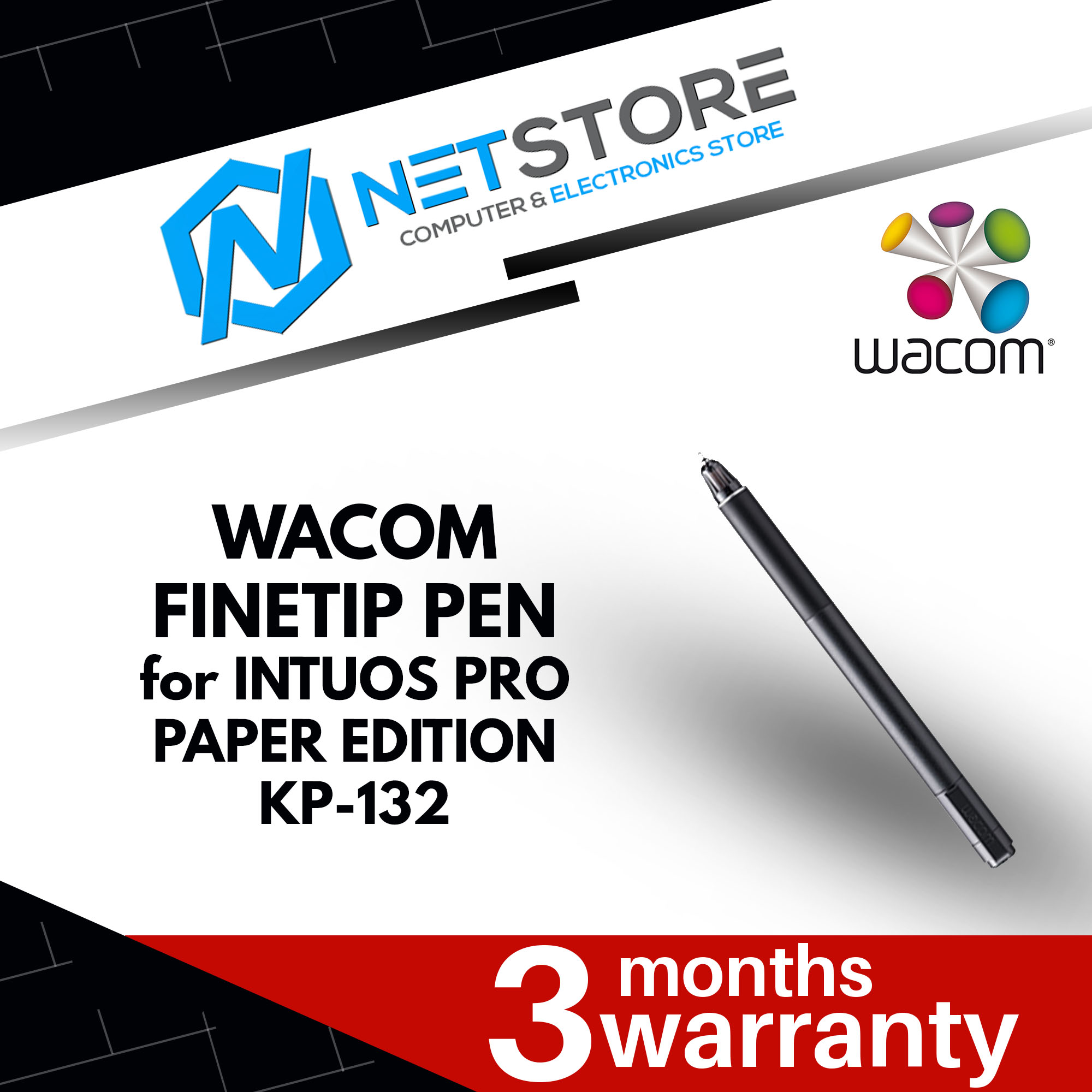 WACOM FINETIP PEN FOR INTUOS PRO PAPER EDITION TABLET - KP-132