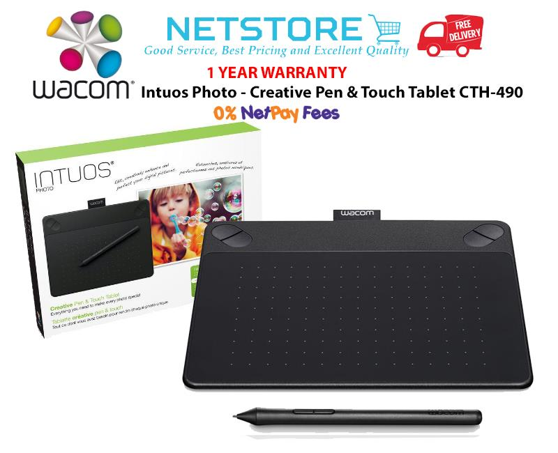 Wacom Intuos Photo - Creative Pen and Touch Tablet CTH-490/K2-CX