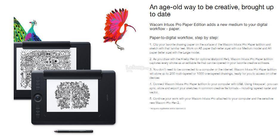 WACOM INTUOS PRO Medium Paper Graphic Drawing TABLET (PTH-660/K1-C)