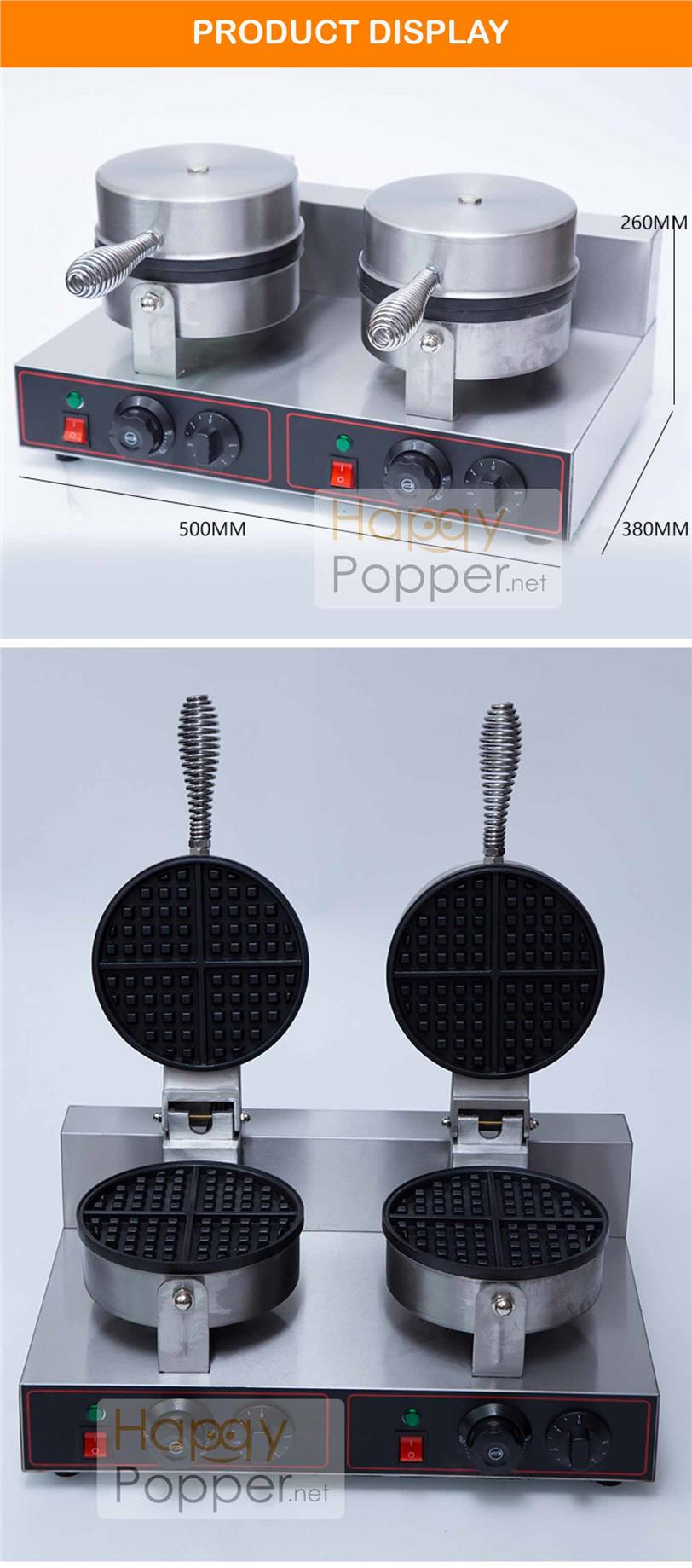 Waffle maker machine double electric