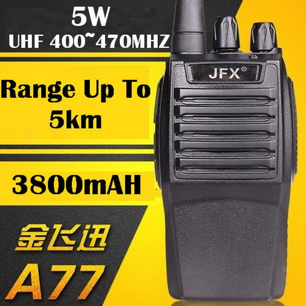 Walkie-talkie A77, 5W, UHF 400~470MHZ, 3800mAH, Up To 5km