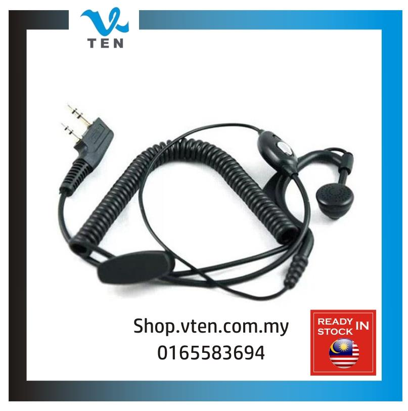 Walkie Talkie Quality Handfree Earpiece Earphone Wire Fon Kepala