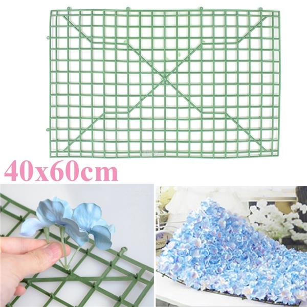 Wall Hanging Plastic Panels Mat for Artificial Flower Grass Turf DIY W