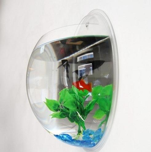 Wall Mount Round Bubble Fish Tank