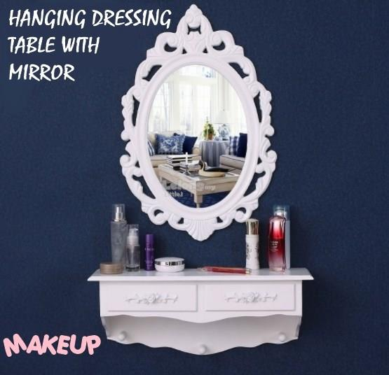 Wall Mount Dressing Table With Mirror