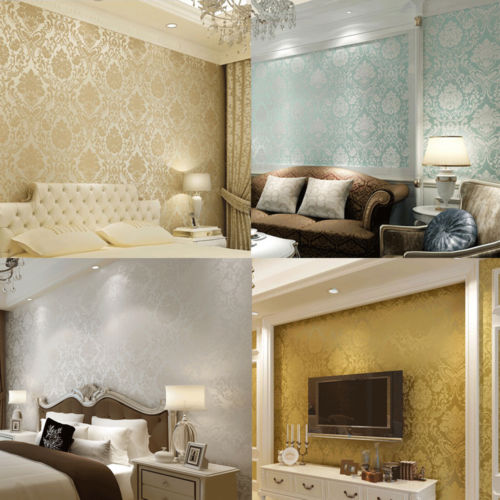Wall paper wallpaper roll damask non end 4 21 2018 7 15 pm for 3d wallpaper for living room malaysia