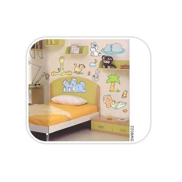 Wall Sticker: Baby Jungle Animals