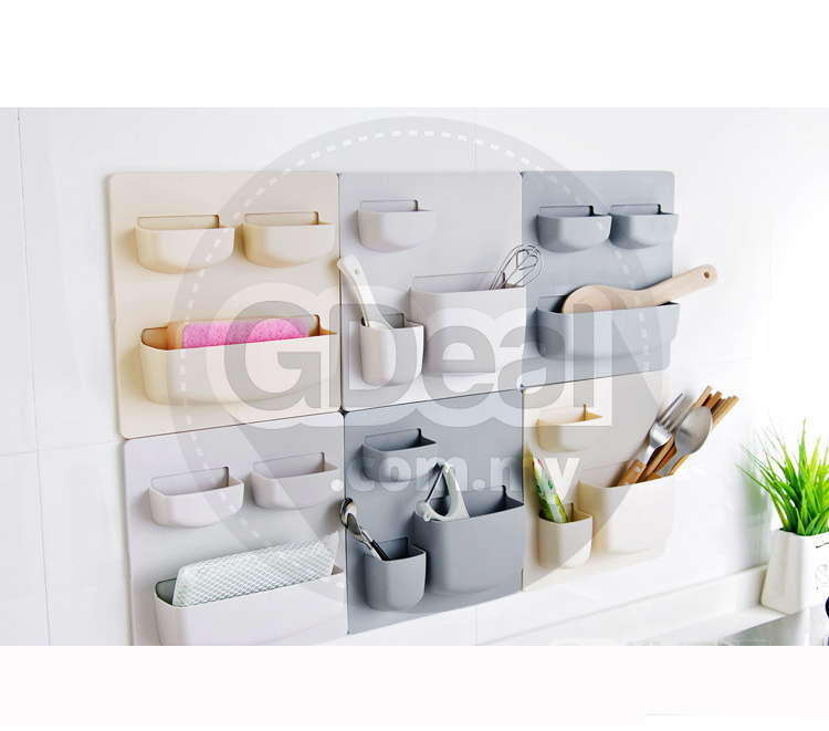 Wall Storage Rack Free Punch Wall Hanging Rack Kitchen Bathroom Rack