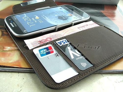 the latest e48d0 d6058 Wallet Leather Case Book Flip Folio Cover for Samsung Galaxy S3 SIII