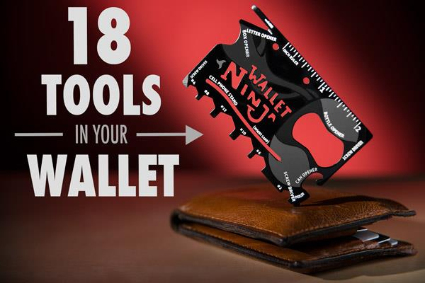 Wallet Ninja Multi-Tool Wallet-sized 18-in-1 multi-tool Pocket Tool