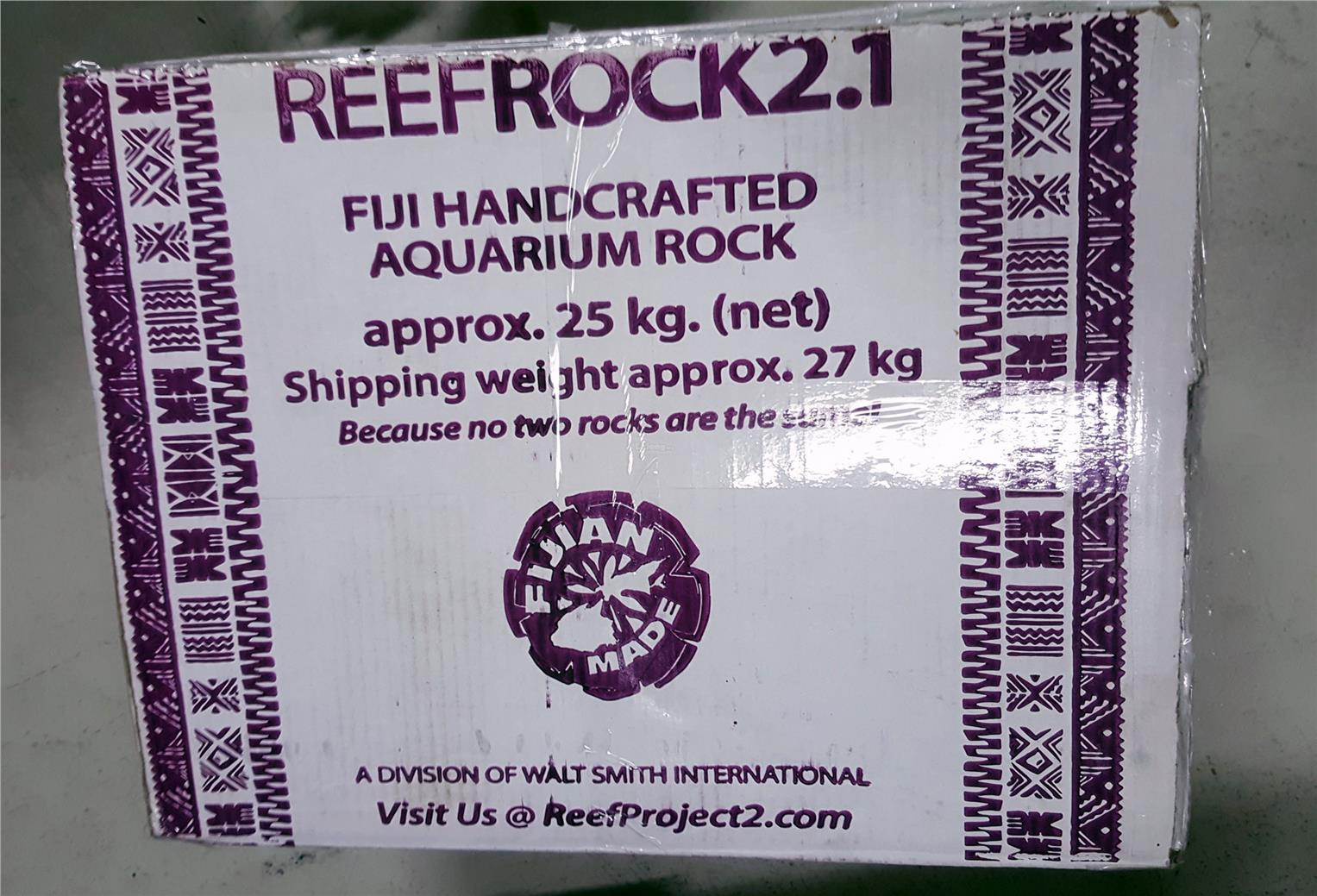 Walt Smith Deep purple Project 2.0 Dry Reef Rock – Box ( 25 KGs )