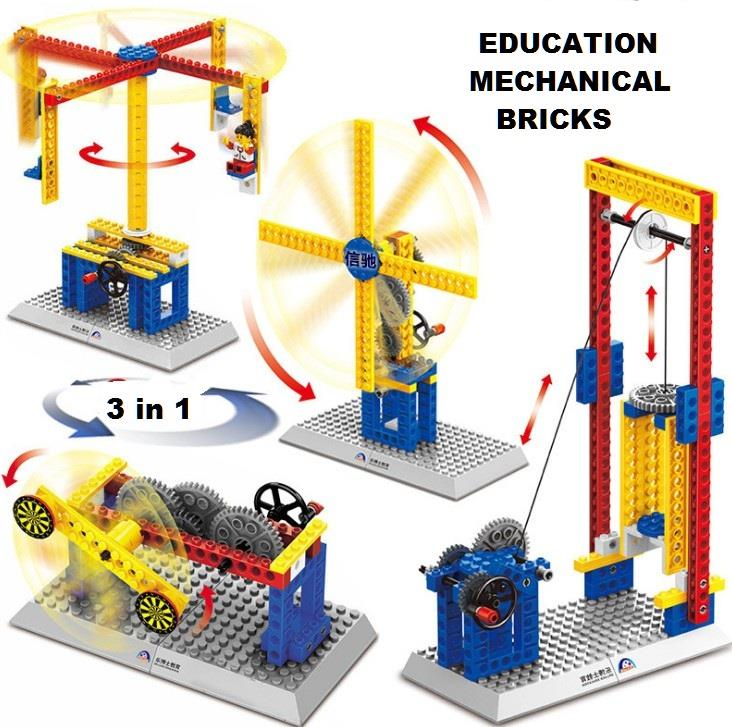 Wange Lego Compatible Mechanical Bricks Kids Educational Engineering
