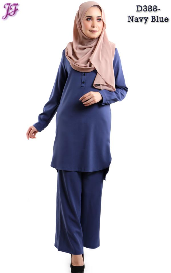 Wardah Suit Blouse And Pant D388 NavyBlue