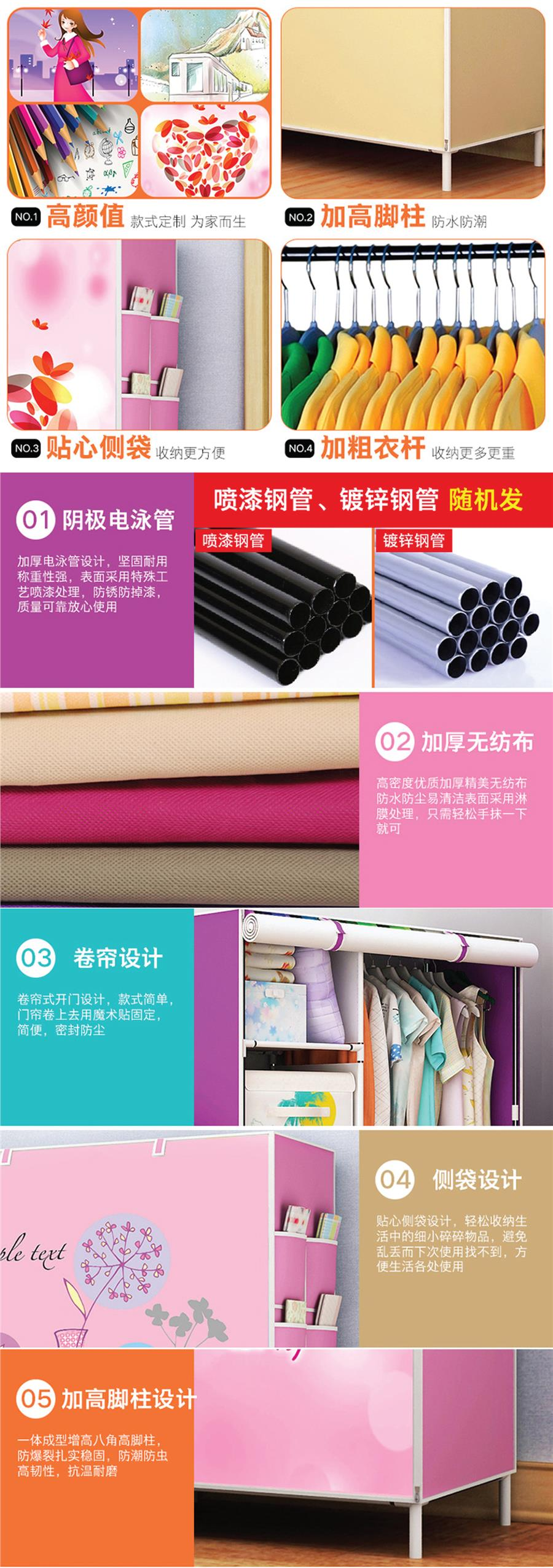 Wardrobe Panoramic Pattern Non Woven Closet Clothes Organizer Storage