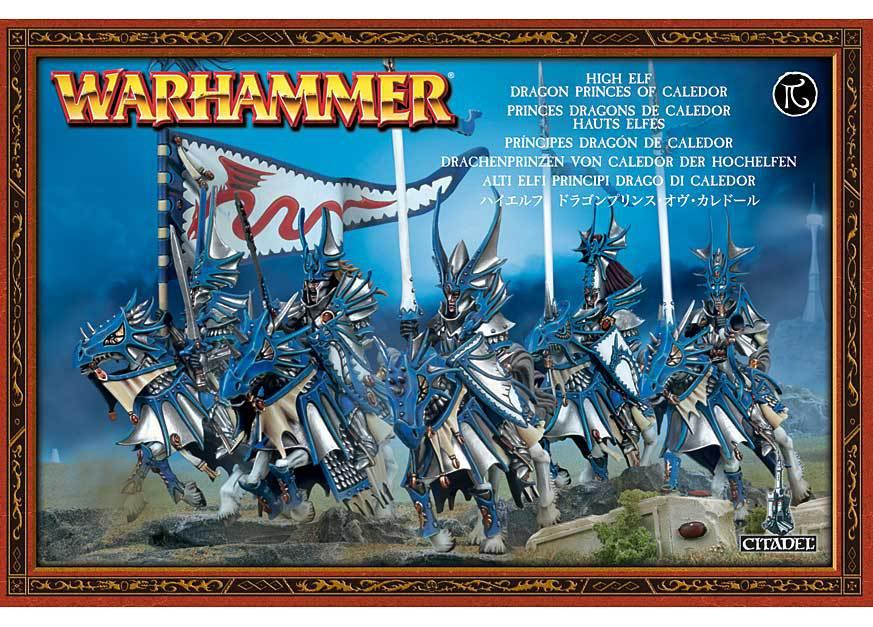 Warhammer High Elf Dragon Princes of Caledor